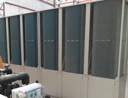 Instalación de enfriadora industrial
