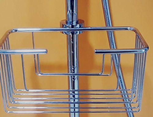 Nueva cesta para colgar en columna ducha ya instalada